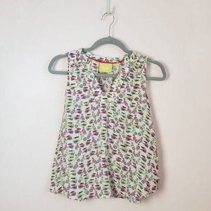 maeve scooter print top size 4